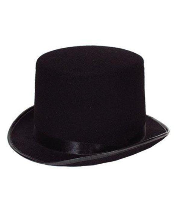 Hoge hoed vilt zwart