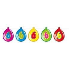 Vlaggenlijn ballonnen 6 jaar