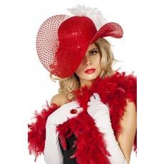 Bea hoed pailletten rood