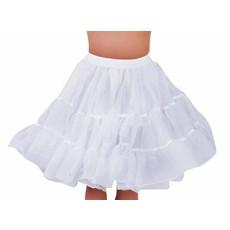 Petticoat kniehoogte wit met elastiek luxe