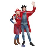 Cowboy Toppers jas rood