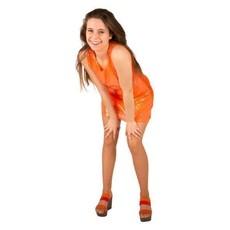Feest jurkje spangles oranje