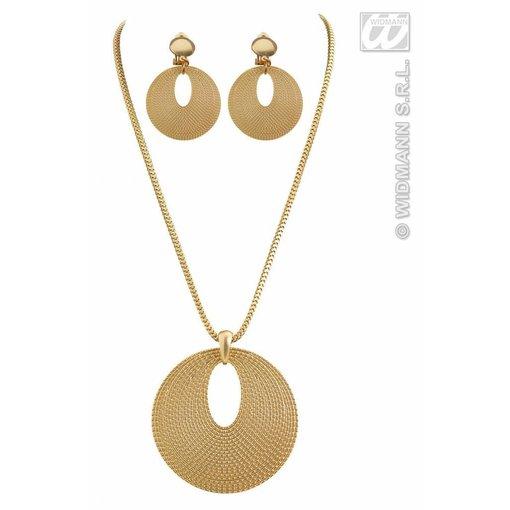 Set Romeinse ketting + oorbellen