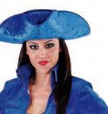 3-spits Markiezin blauw