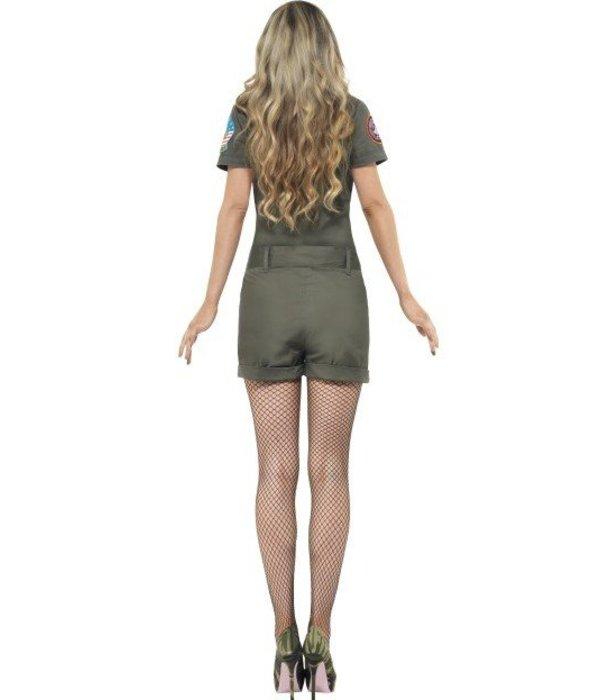 Top Gun vliegenier kostuum vrouw