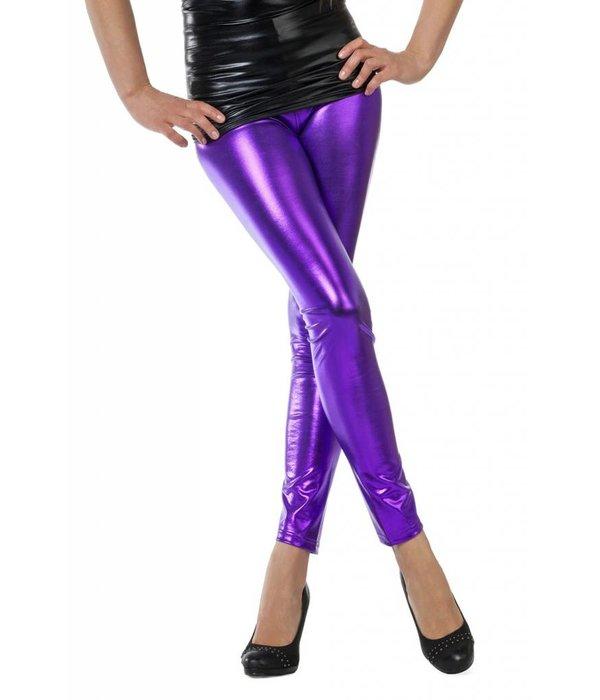 Legging folie paars