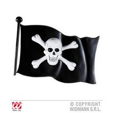 Decoratie piratenvlag plastic