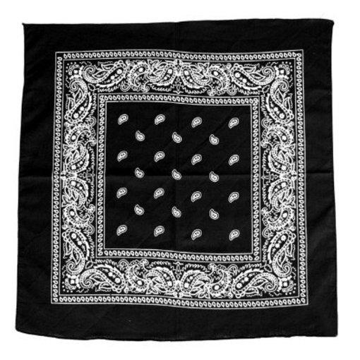 Boeren zakdoek zwart