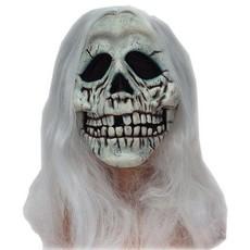 Masker Skull met wit haar