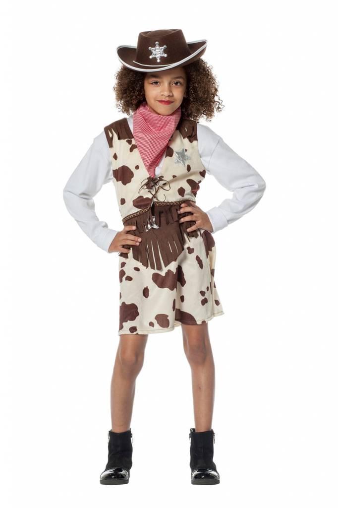 Cowgirl pakje koeienprint