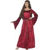 Middeleeuwse maid kostuum