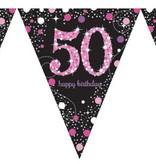 Vlaggenlijn '50' Sparkling Pink