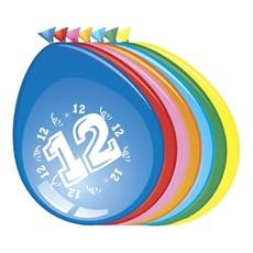 Ballonnen '12 Jaar' (30cm, 8 stuks)
