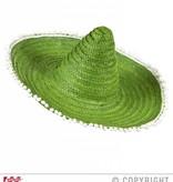 Sombrero groen 50cm met pompons