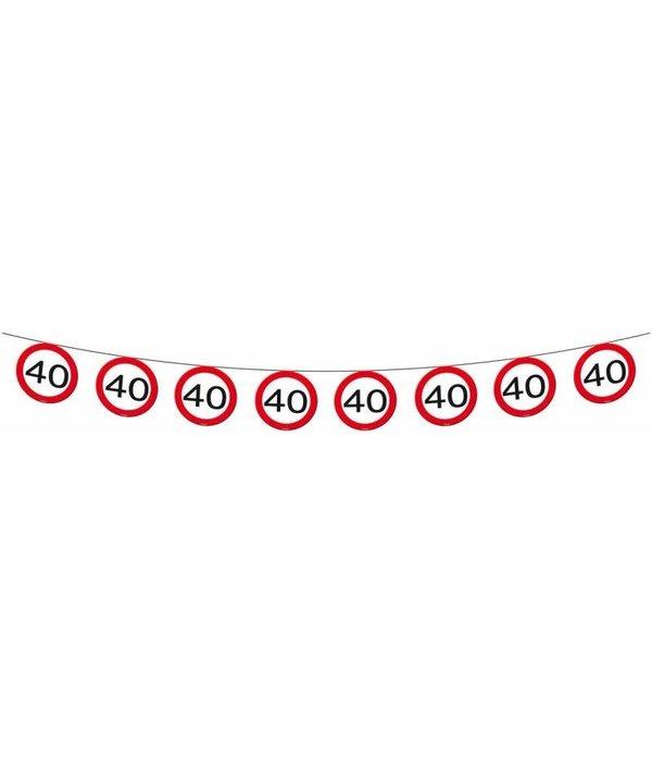 Vlaggenlijn verkeersbord '40'