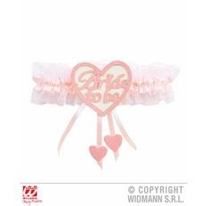 Kousenband bride to be roze/wit