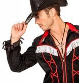 Cowboy glamour hoed pailletten zwart