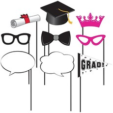 Photo Booth Props Kit Cap & Gown Geslaagd