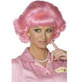 Frenchy Grease pruik pink