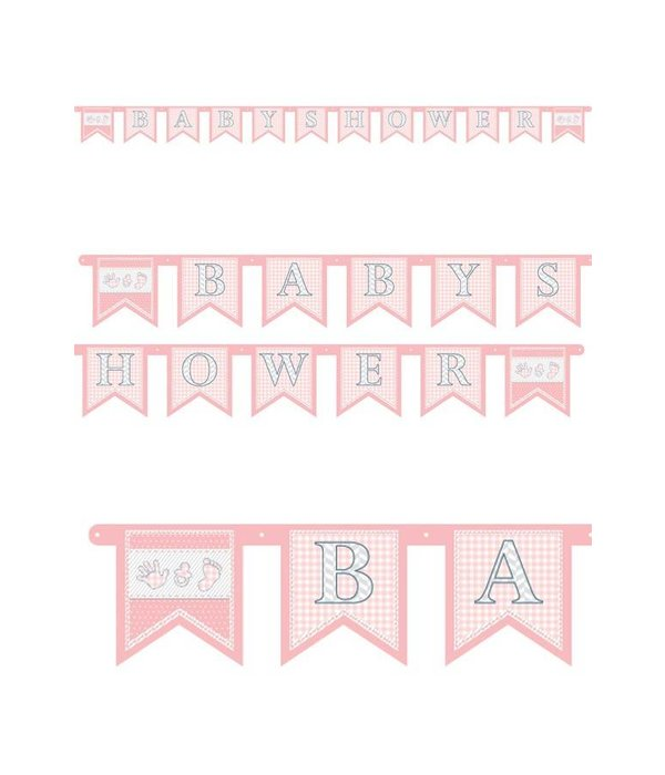 Letterslinger Babyshower meisje