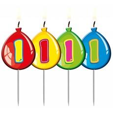 Nummer kaarsje ballon cijfer 1