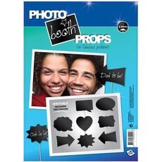 Photo booth props set schrijfbaar 8 stuks