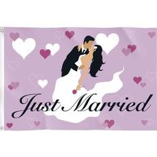 Gevelvlag huwelijk Just married