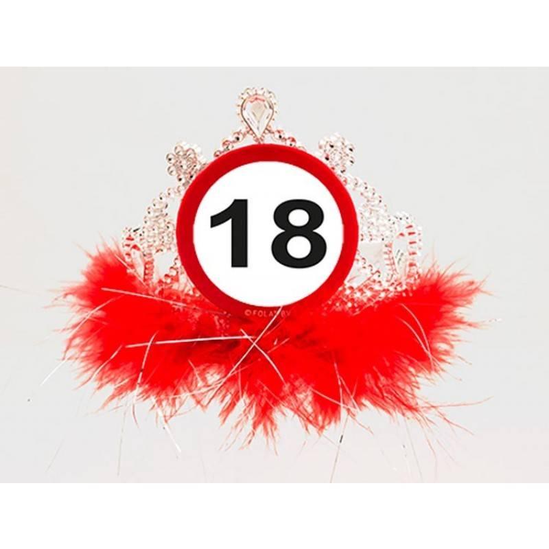 18 jaar verkeersbord tiara