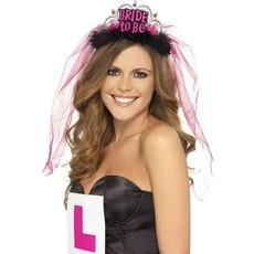 Bride to Be tiara zwart met sluier