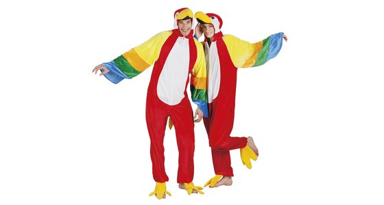 Papegaai kostuums