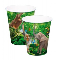 Safari Party Bekers 250ml - 8 stuks