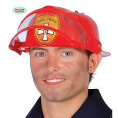 Brandweerhelm met vizier kind/volwassen