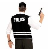 Zwart Politievest Met Cap Volwassen