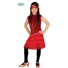 Jaren 20 charleston meisje rood