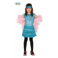 Flapper kostuum meisje blauw