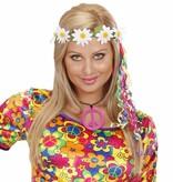 Hippie set oorbellen en ketting neon kleuren