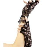 Vingerloze handschoenen kant zwart
