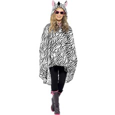 Party Poncho festival zebra