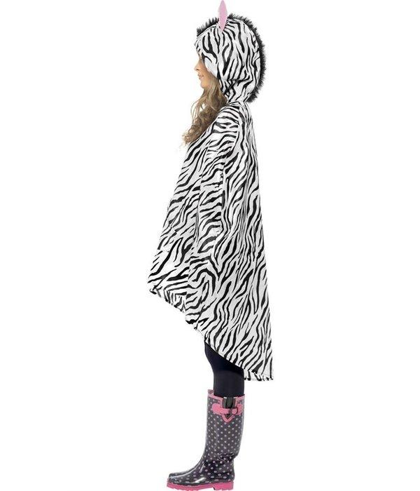 Party Poncho festival zebra