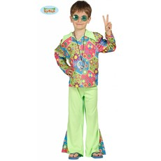 Hippie jongen flower power