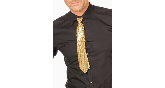 Gouden stropdas - strik