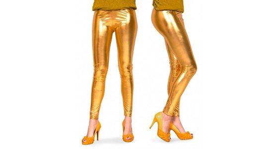 Gouden panty - legging - kousen
