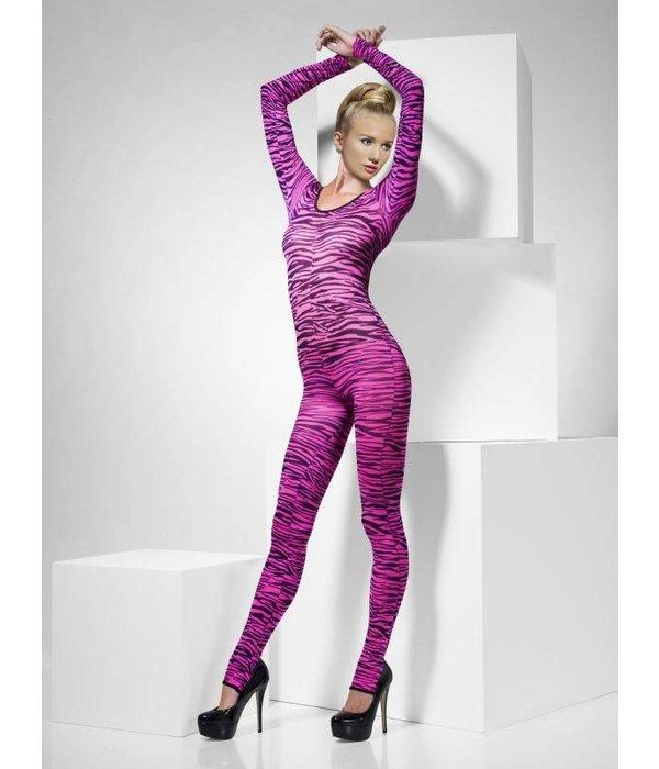Zebra bodysuit pink