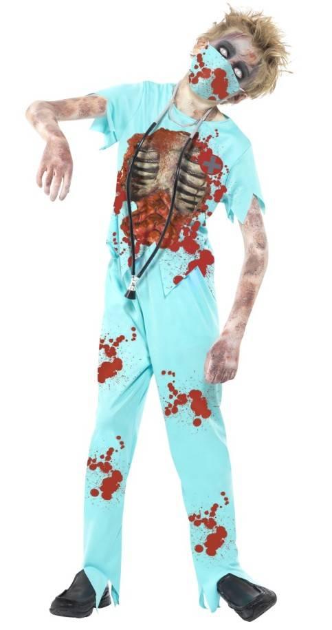 Halloween Verkleedkleding Kind.Zombie Chirurg Kostuum Kind
