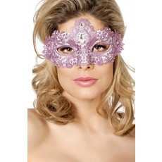 Masker stof met steentjes oud roze
