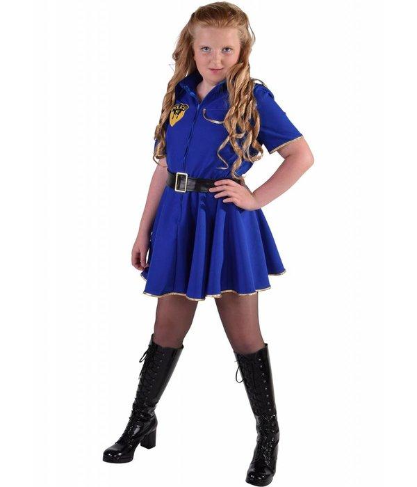 Politie jurk meisje kobalt