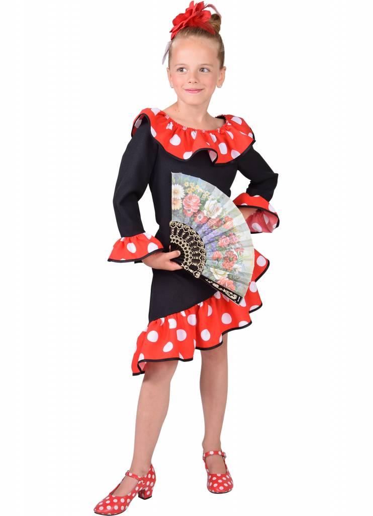 Spaanse danseres jurkje meisje