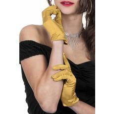 Gala handschoenen goud satijn 20cm