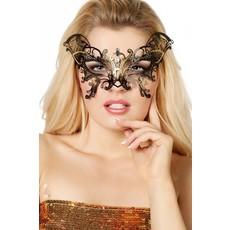 Masker vlinder metaal goud
