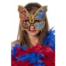 Masker vlinder rood/blauw